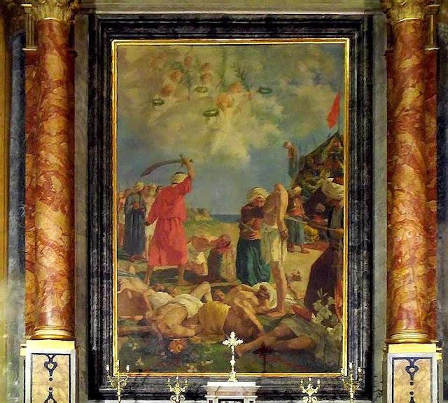 Altar representando o martírio e o milagre, Santa Caterina a Formiello