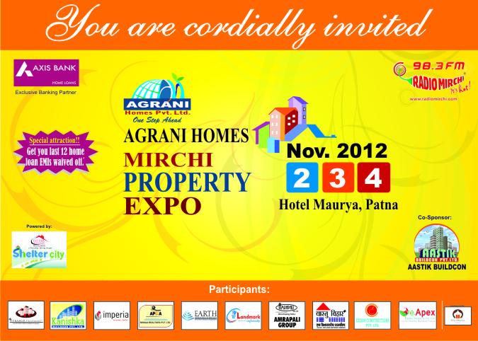 Print advertisement idea design creative invitation card design mirchi property expo invitation card stopboris Gallery