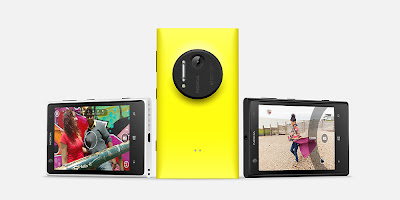 Nokia Lumia 1020 Yello Front Side and Back Side