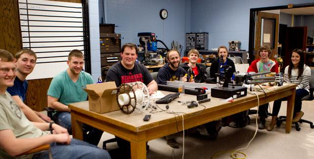 'The Rover of the Corn' engineering team. Credit: dailynebraskan.com