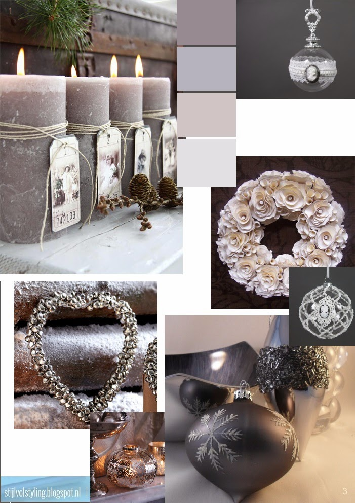 Feestdagen have a 39 smokey grey 39 christmas kerst styling in grijstinten stijlvol styling - Tijdschrift interieur decoratie ...