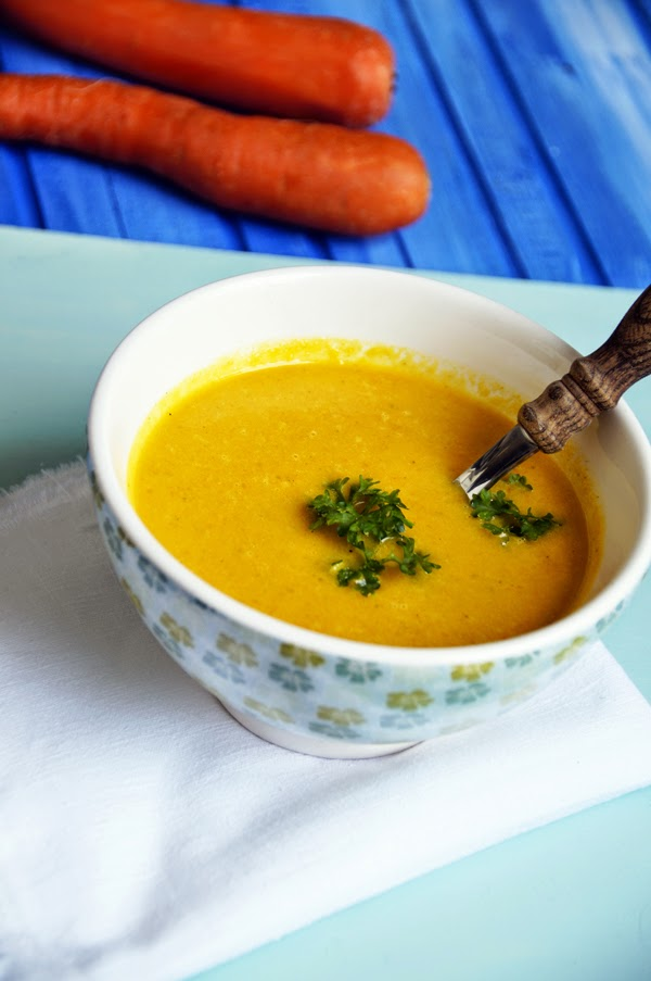 Vegane Suppe: Möhrensuppe mit Ingwer und Kokosmilch