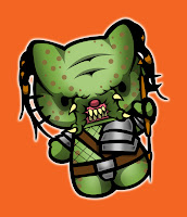 Hello Kitty in Predator costume