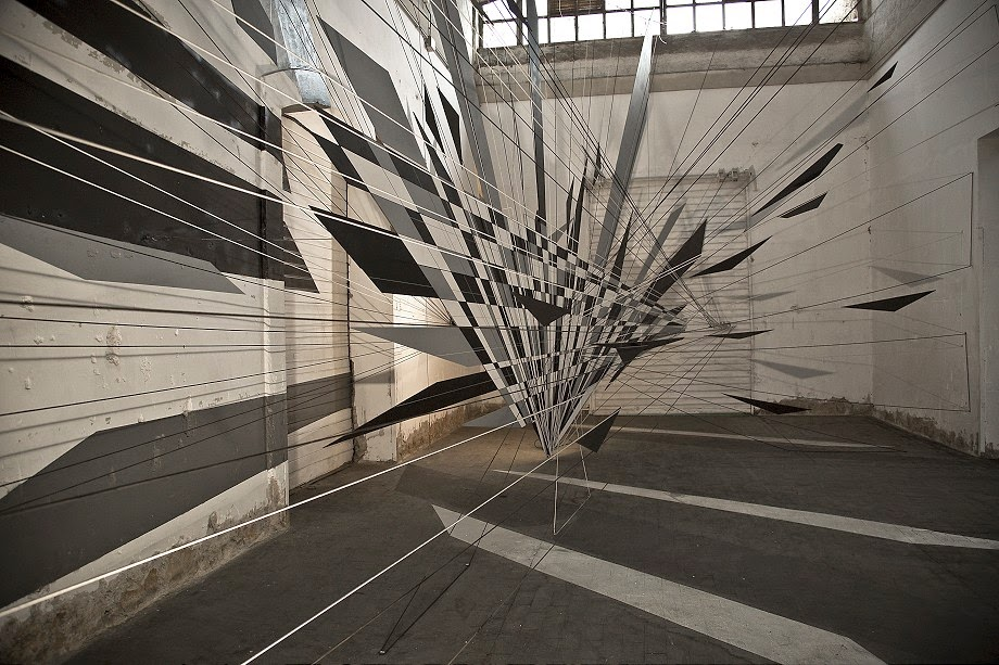 French artist Thomas Canto recently created this interesting sculptural installation for Outdoor urban art festival in Rome.