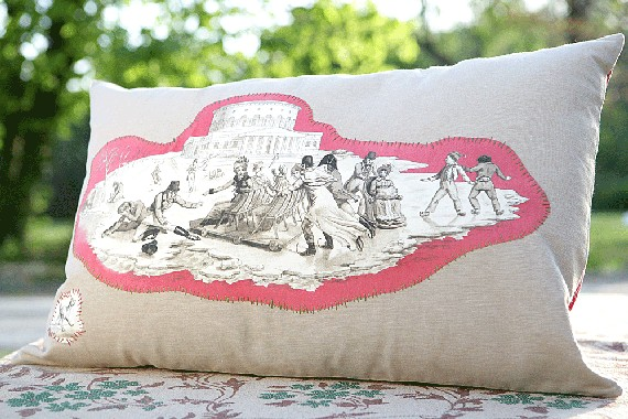 Mrs murray and company toile de jouy on a theme for Housse de couette toile de jouy