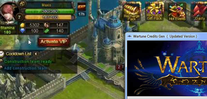 New Wartune Hack 2013 Balens Gold Vouchers