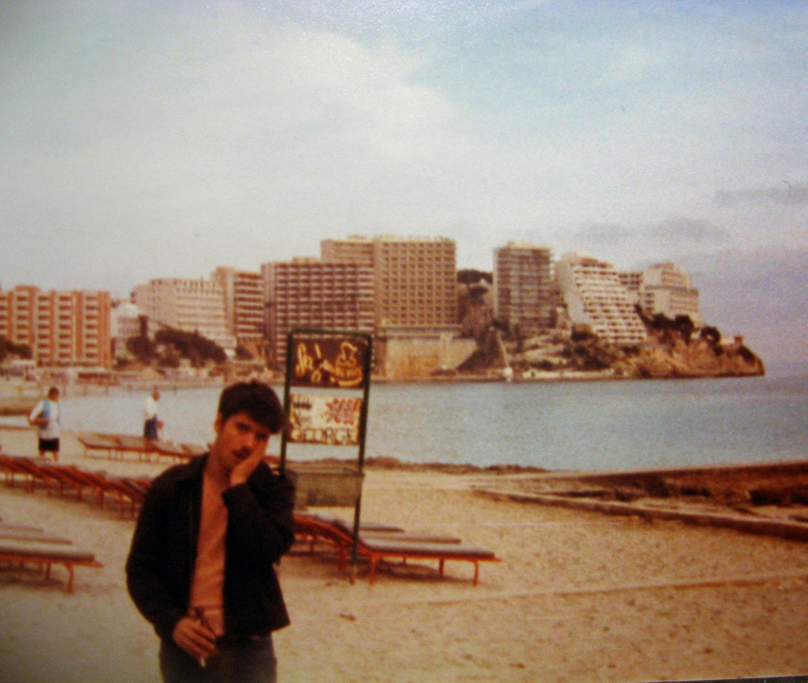 Cary... aftermath of a great day Palma Spain January 1983