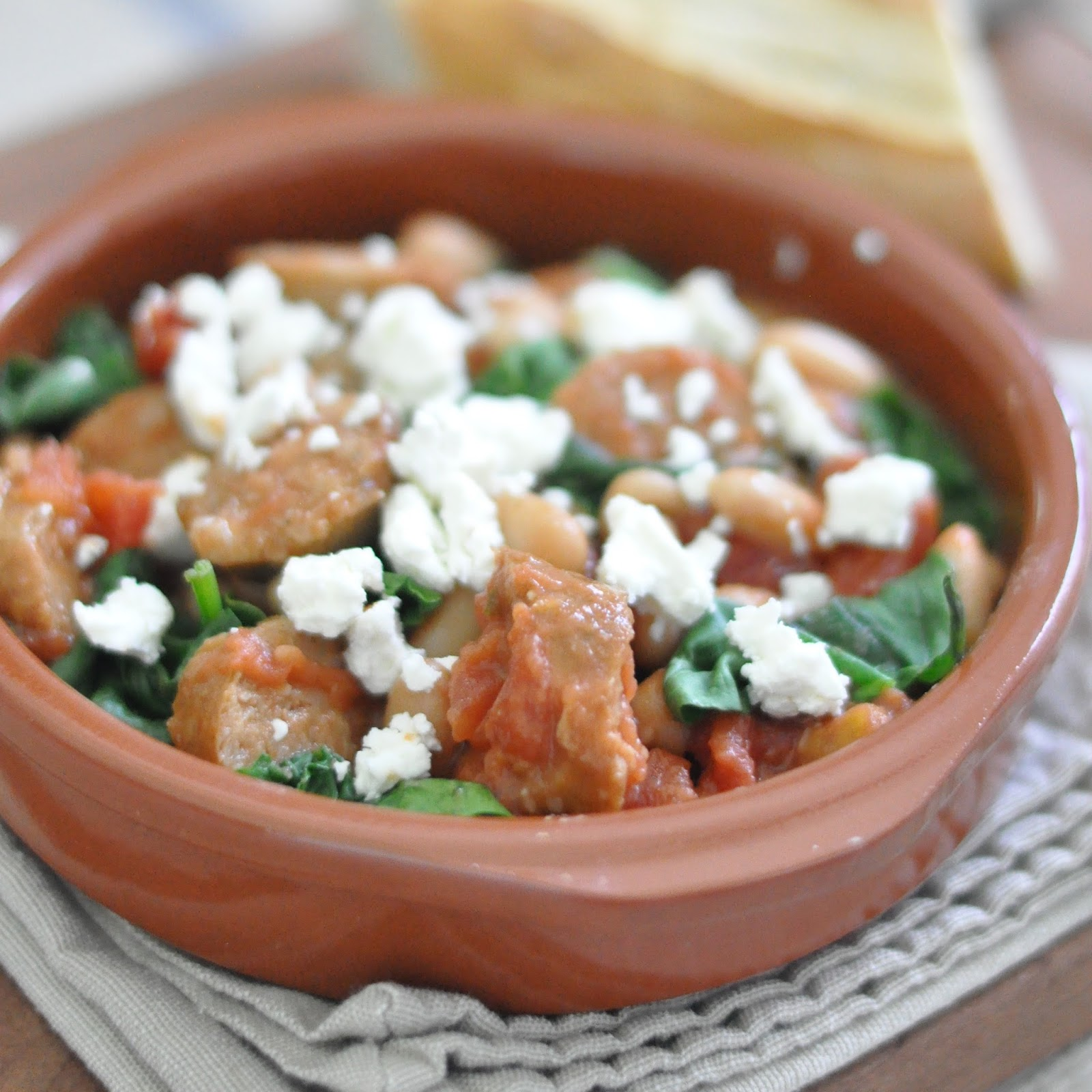 Sausage, Spinach & White Beans