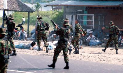 Aksi represi dan pembantaian GAM di Aceh merupakan salah satu kasus pelanggaran HAM di Indonesia