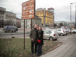 Dr. Muftic and her husband in Sarajevo