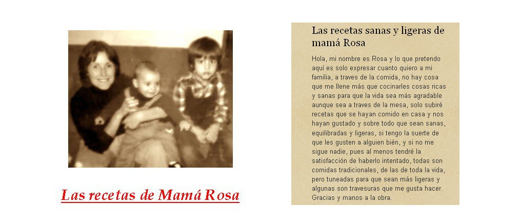 LAS RECETAS DE MAMA ROSA