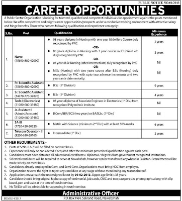 Job Opportunities for medical related in daily dunya newspaper