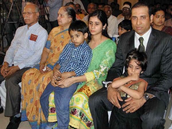 VVS Laxman family Photos