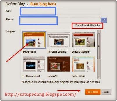 Cara Membuat Blog Gratis Blogspot Untuk Pemula