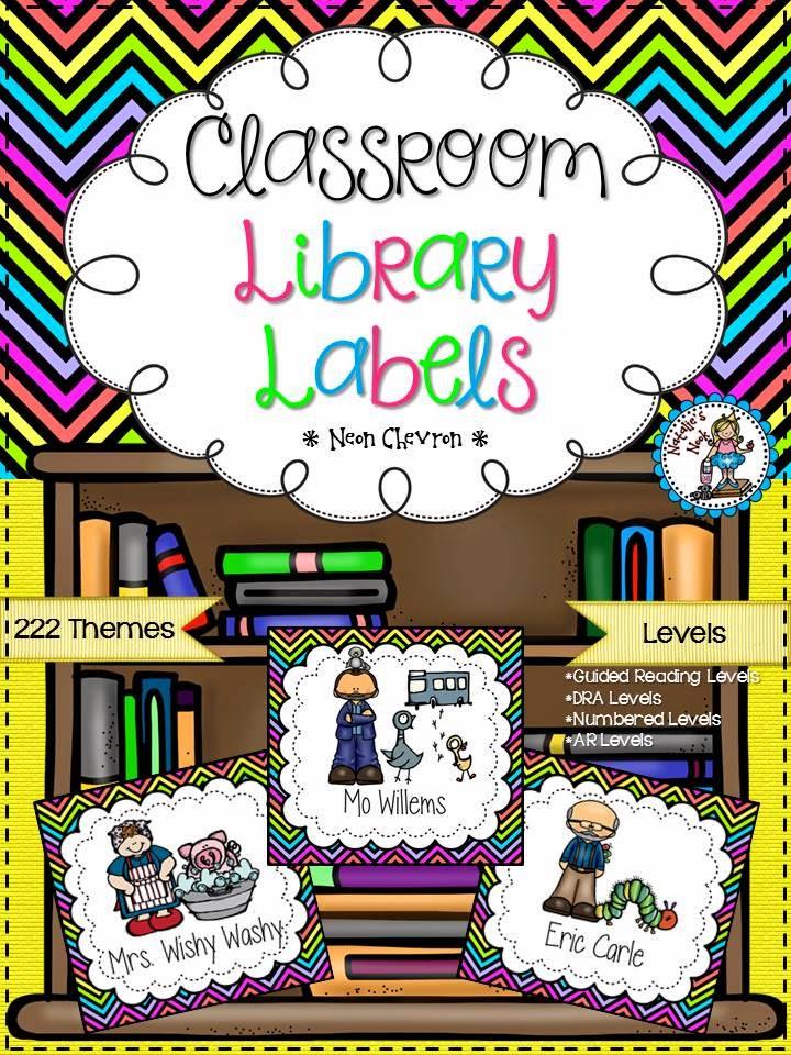 http://www.teacherspayteachers.com/Product/Classroom-Library-Labels-Neon-Chevron-1299059