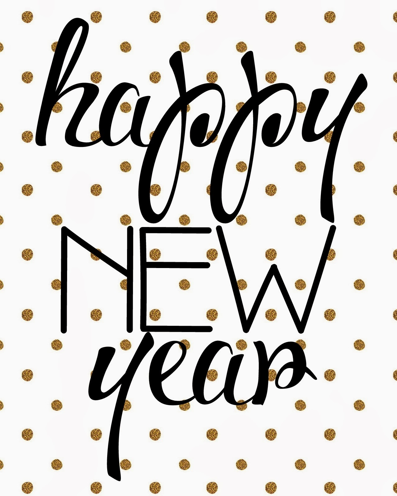 Modest image for happy new year printable