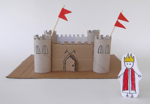 castle, paper castle, cardboard castle, how to make a castle, toilet paper tube castle,