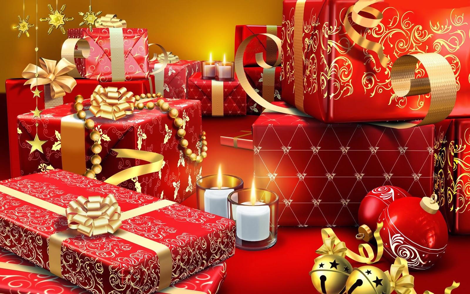 New Year Gift Box Wallpaper