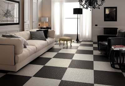 Black And White Floor Decorations