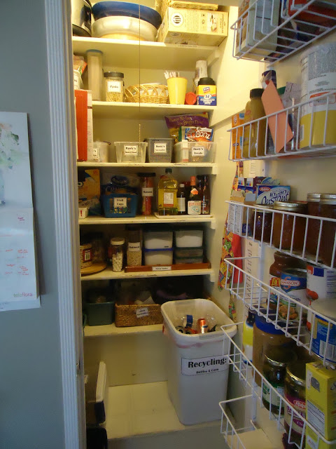 pantry organized labeled