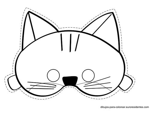 Caras de Gato Para Colorear