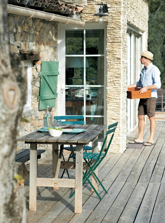 A renovated barn house for a family of four in the French countryside via IKEA Family Live. #country #home #terrace