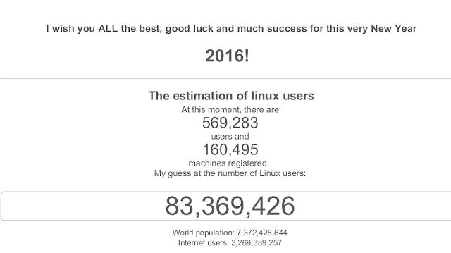 Quantidade de usuários Linux