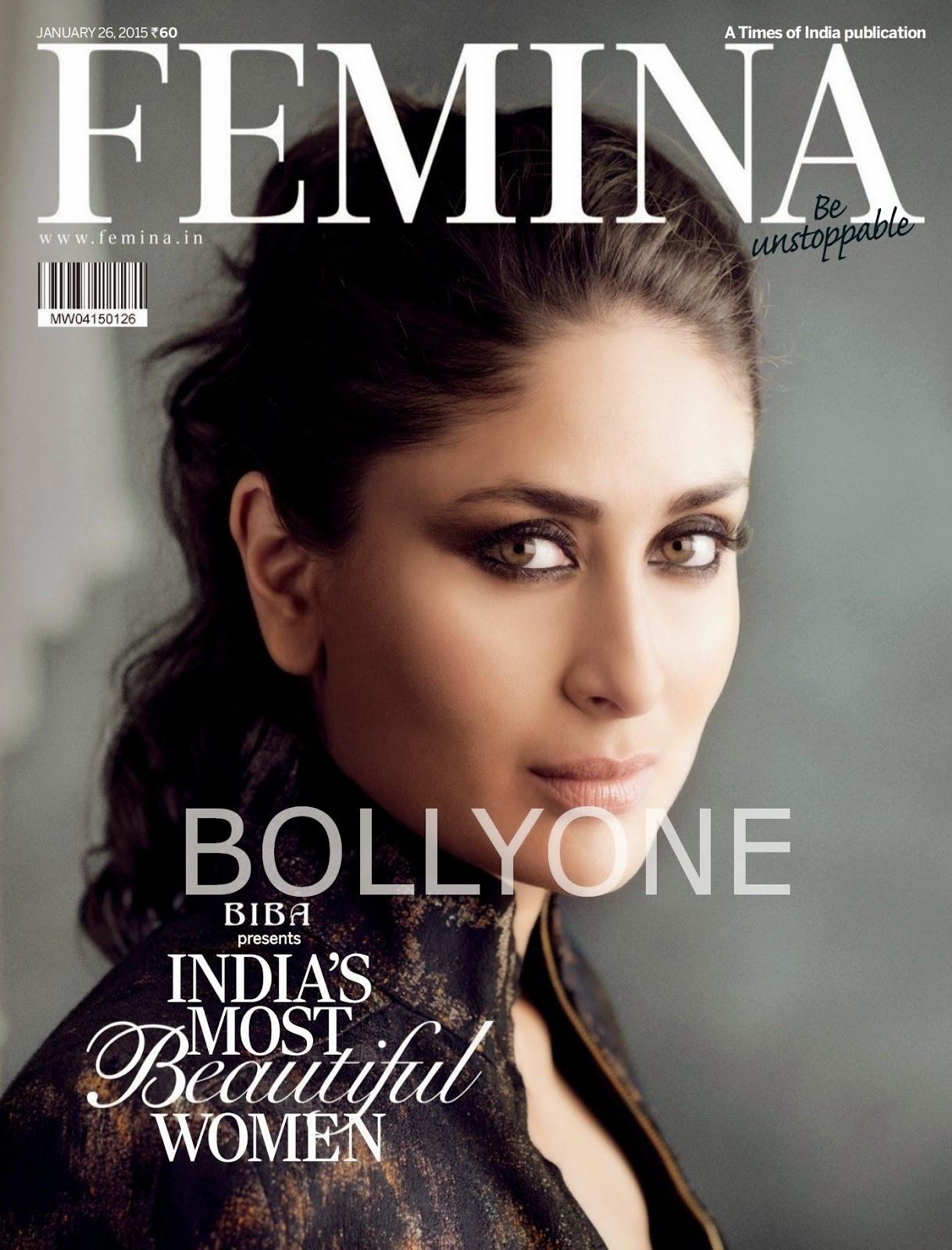 Sonam,Kangana,Deepika,Kareena - Femina Magazine, January 2015