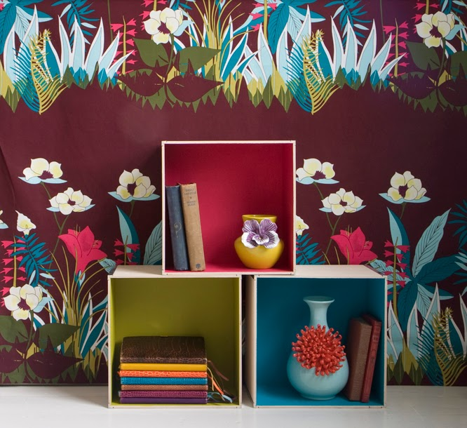 Kenzo, kenzo maison, jungle, fabric, floral patterns, bold, colourful, blind, my home, my interiors,