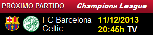 FC Barcelona vs Celtic de Glasgow (Champions League 2013-14)