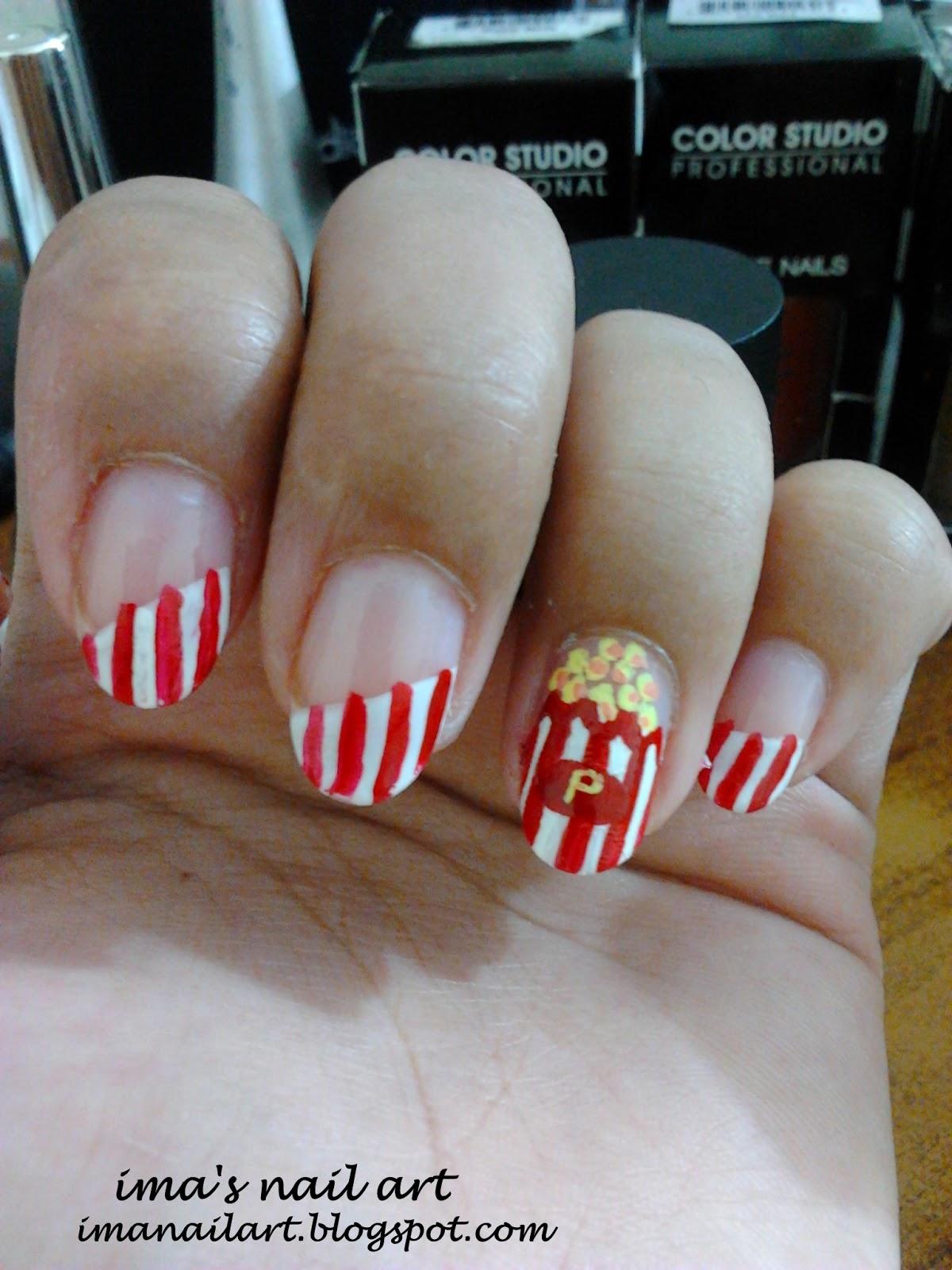 Imas Nail Art Tutorial Popcorn Nail Art Tutorial