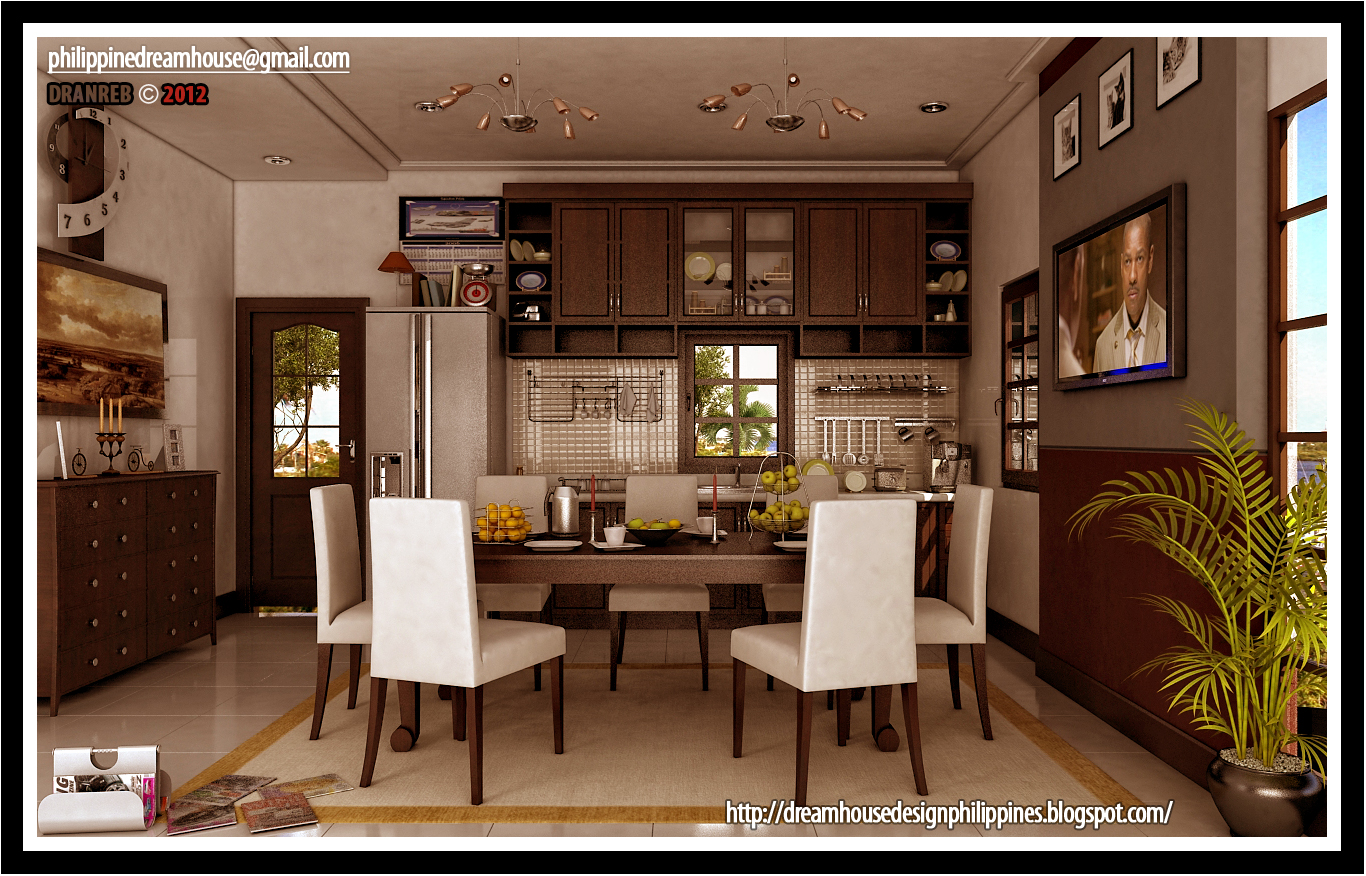 Philippine dream house design modern dining and kitchen for Small kitchen design pictures philippines