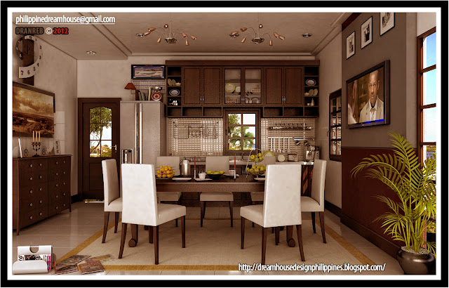 Philippine Dream House Design Modern Dining And Kitchen Design Combine