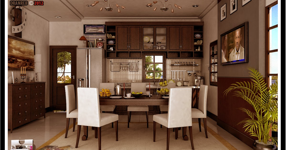 Philippine dream house design modern dining and kitchen for The combine kitchen