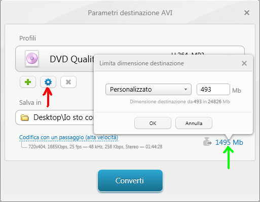 Dimensione minima video Freemake Video Converter