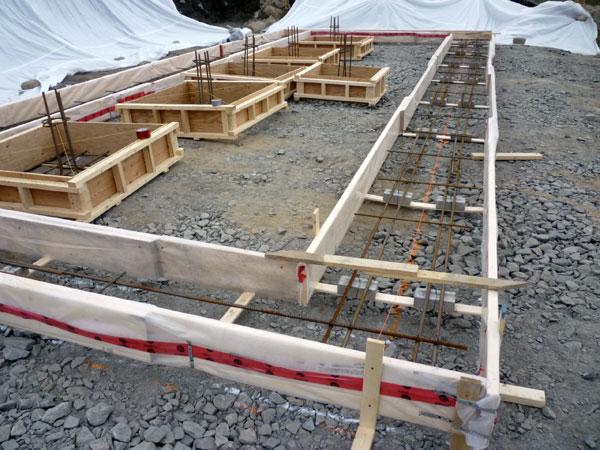 Basement Footing Built (pillar Footing Awaiting Placement)