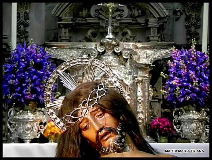 Besapiés del Cristo de San Agustín de la Hermandad de San Roque Semana Santa de Sevilla 2014