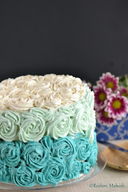 Easy Cook White Velvet Cake With Whipped Vanilla Blue