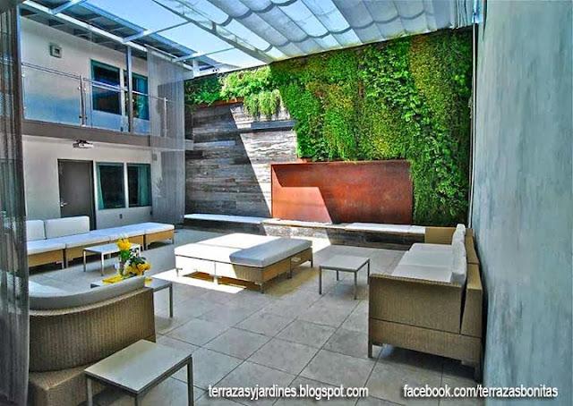 Fotos de terrazas terrazas y jardines fotos de jardines for Cubiertas modernas para terrazas