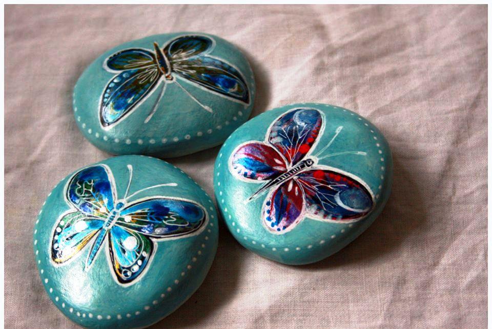 Painted pebbles design ideas art craft projects - Decorar piedras de rio ...
