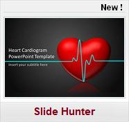 Modèles PPT gratuits Médecine Santé cardiologie coeur ecg electrocardiogramme
