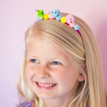 Make this sweet Easter headband in minutes