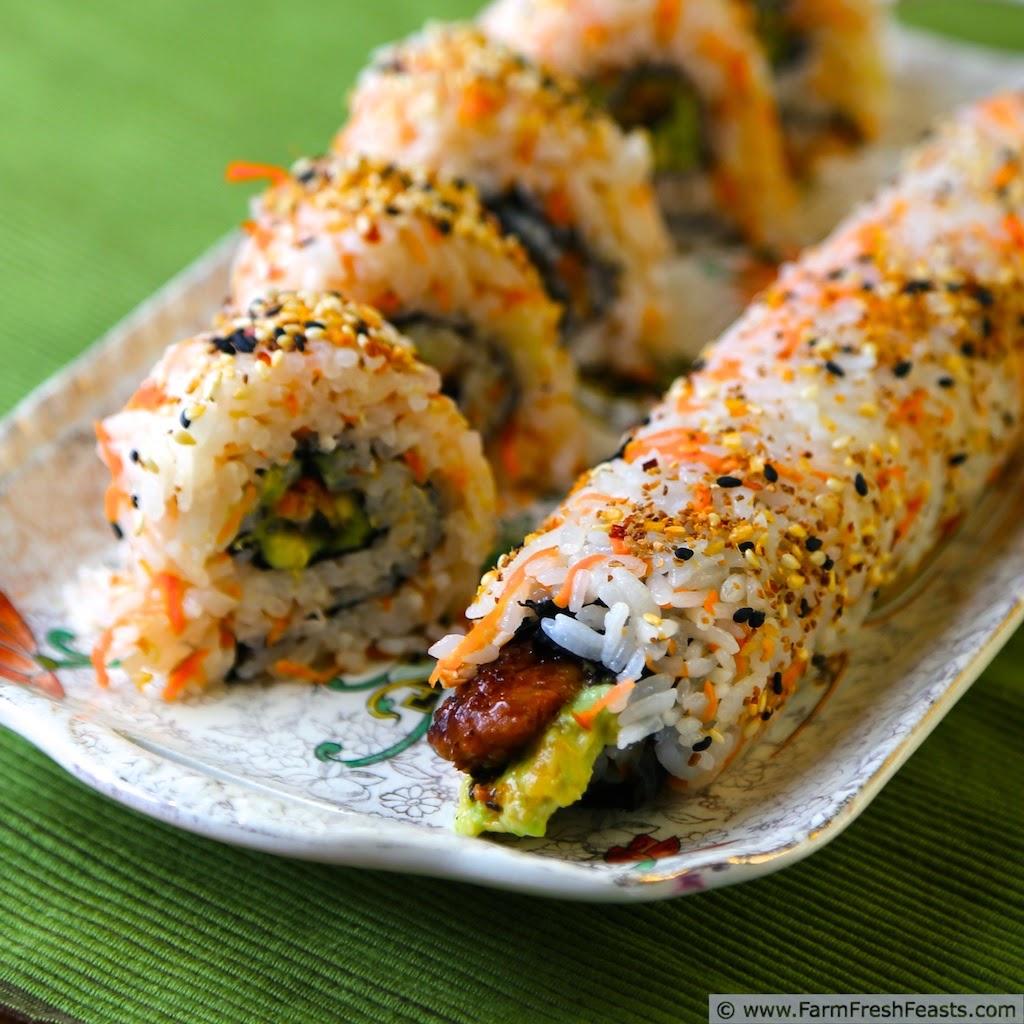 sushi rice Filtered water, sugar, kombu, sake, rice vinegar, sea salt, short grain rice.