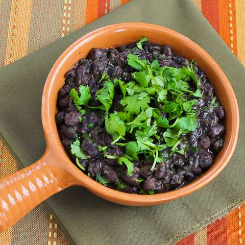 CrockPot Black Beans with Cilantro