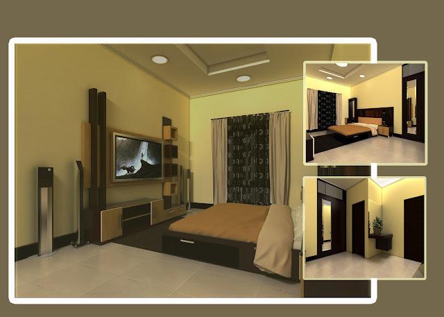 kamar tidur utama minimalis 3 x 2