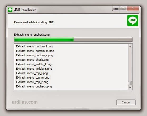 Proses instal - Cara Download & Install Aplikasi Line di Komputer