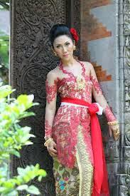 Kebaya Bali Modifikasi Lengan Panjang - Kebaya Muslim Pengantin