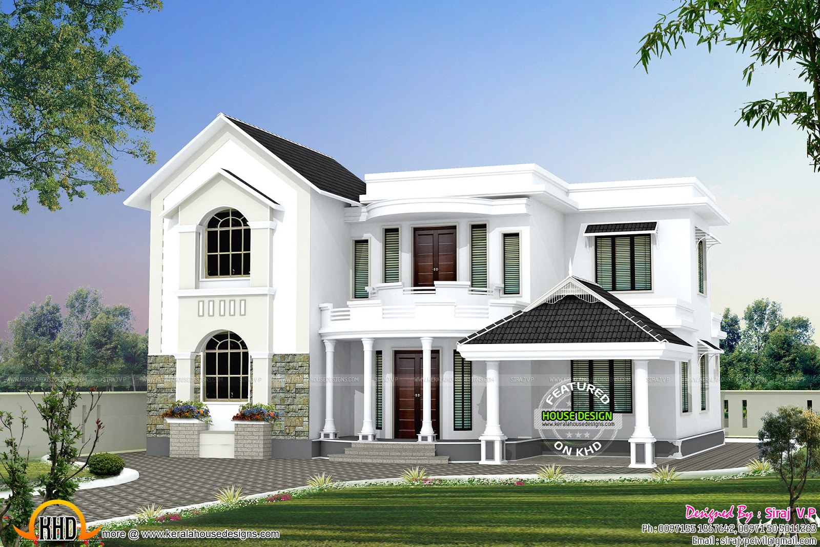 House exterior options kerala home design and floor plans for Home exterior options