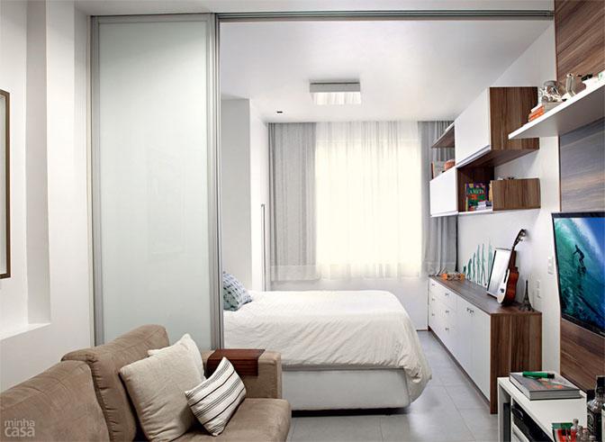 06 quitinete de 26 m2 aposta em moveis planejados e integracao de ambiente Boas ideias para apartamento pequeno ou quitinete!