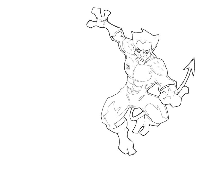 Nightcrawler Look Lean Printing Nightcrawler Coloring Pages